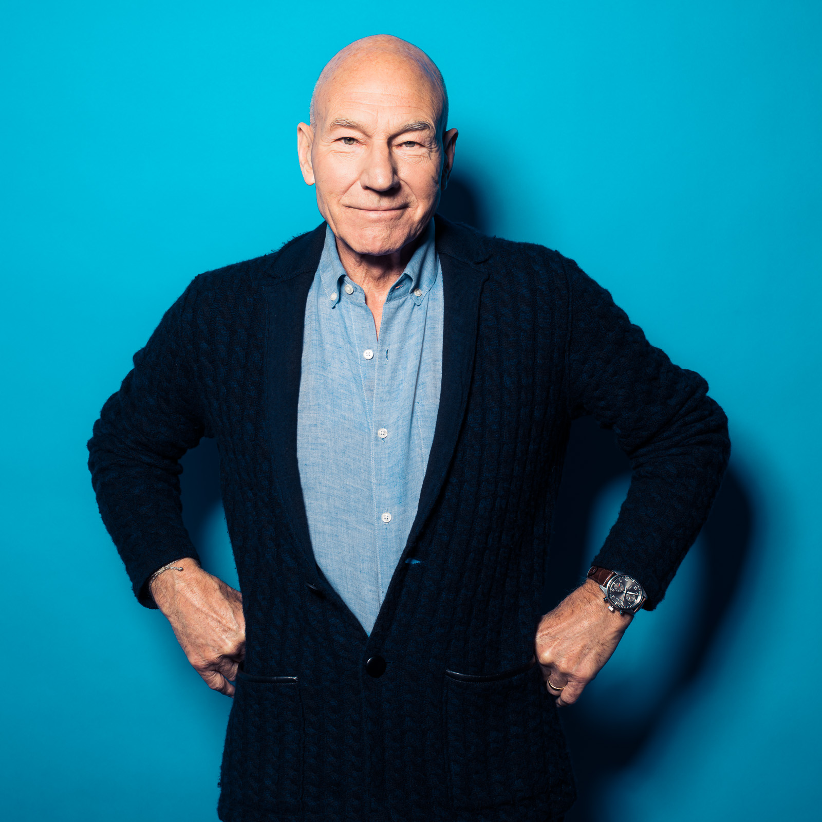 Sir Patrick Stewart photography by Eric Schwabel