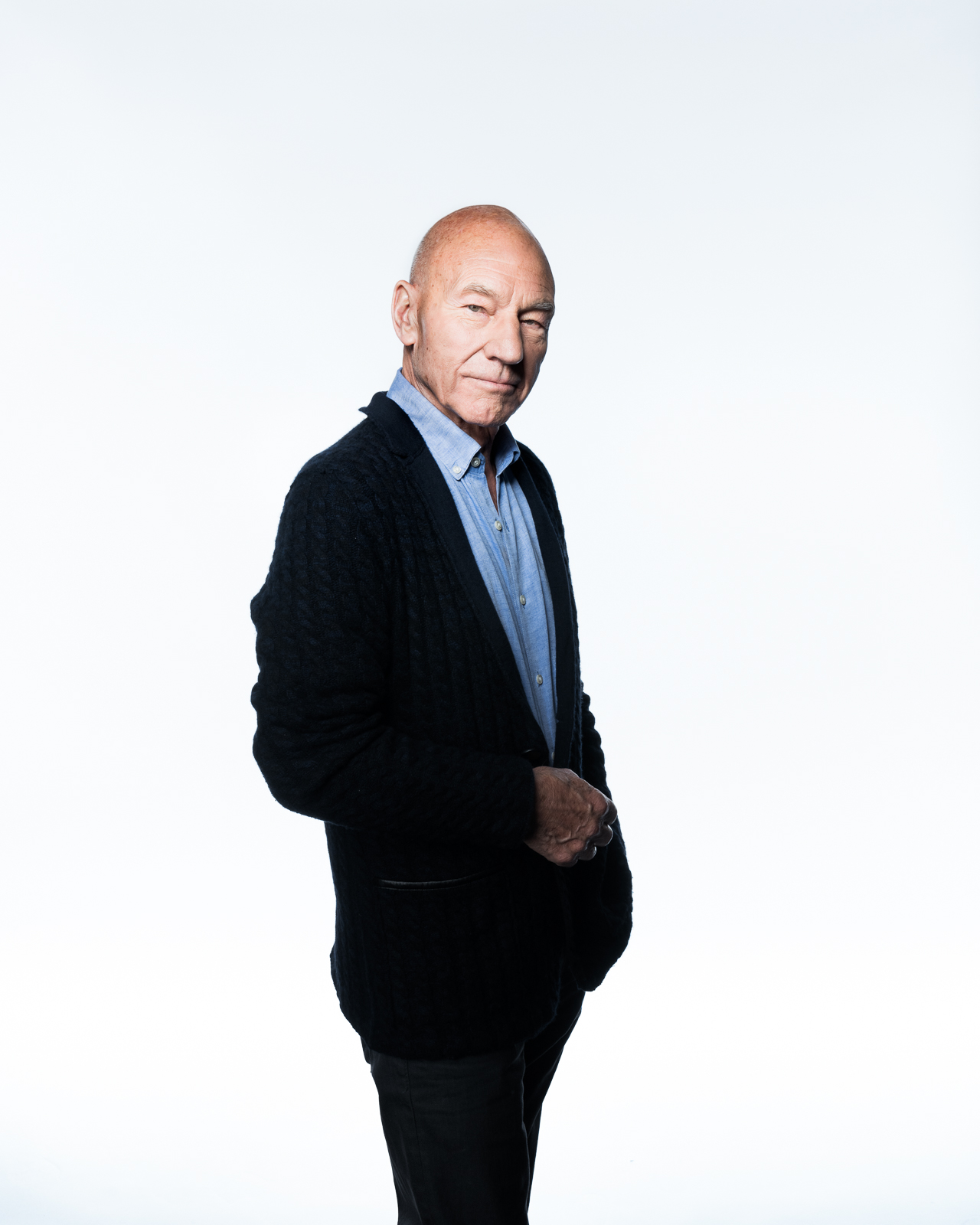 Sir Patrick Stewart photographed by Eric Schwabel