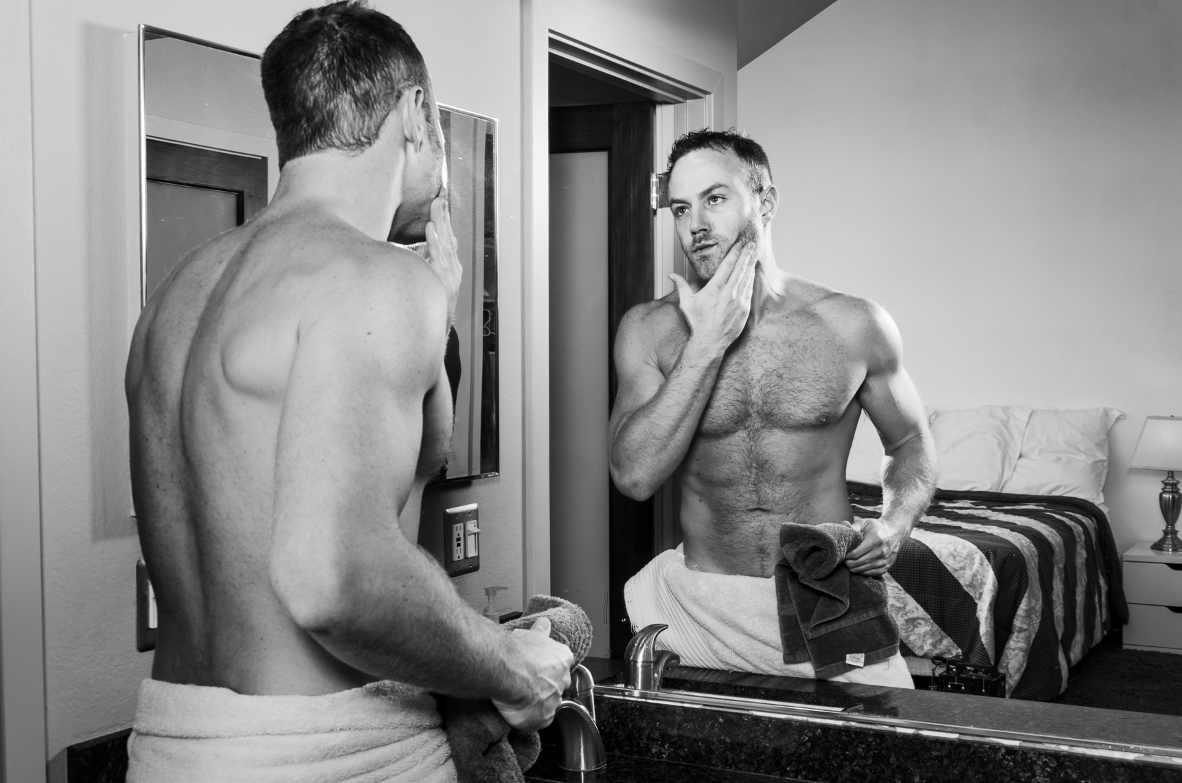 Paul Zahn Shaving by Eric Schwabel